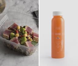 Almuerzo: Quinoa con Jugo Shine