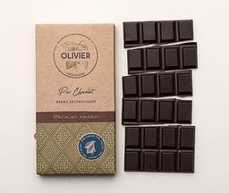 Barra de chocolate belga 70% cacao Oliv…
