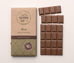 Barra Praliné chocolate belga Olivier, …