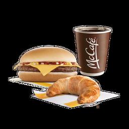 McCombo Cafe + 1 Hamburguesa con Queso y 1 Medialuna