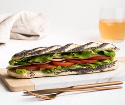 Sándwich de jamón de pavo y mozzarella …