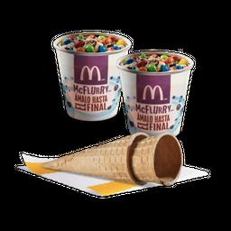 2 McFlurry + 2 conos