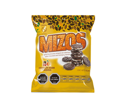 Galleta de arroz con chocolate y naranja Mizos, 25 g