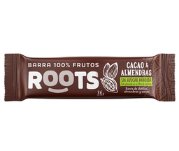 Barra almendras y cacao Roots, 35 g
