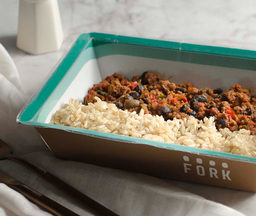 Chili con carne y arroz integral