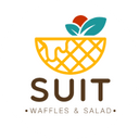 Suit Waffles & Salad background