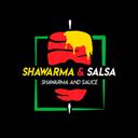 Shawarma y Salsa comida árabe background