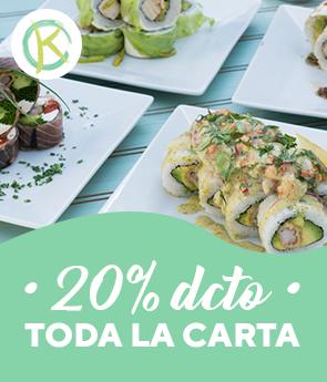 20% off kaori sushi